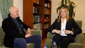 Η πρόεδρος του ΠΑΣΟΚ και Επικεφαλής της Δημοκρατικής Συμπαράταξης Φώφη Γεννηματά συναντάται με τον πρόεδρο του Κινήματος Δημοκρατών Σοσιαλιστών Γιώργο Παπανδρέου στη Βουλή , Πέμπτη 12 Ιανουαρίου 2017. ΑΠΕ-ΜΠΕ/ΑΠΕ-ΜΠΕ/Παντελής Σαίτας