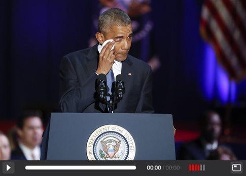 Δύσκολα μπορούσε να κρύψει τη συγκίνησή του ο πρόεδρος
