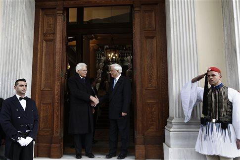 Επίσημη επίσκεψη του ιταλού προέδρου Ματαρέλα στην Αθήνα