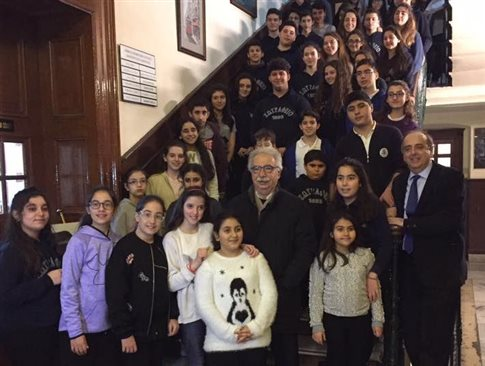 Το σχολείο του στην Πόλη επισκέφθηκε ο υπουργός Παιδείας Κ.Γαβρόγλου