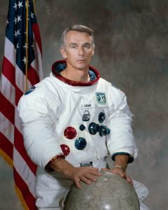 epa05723219 An undated handout photo made available by NASA on 17 January 2017 shows US astronaut Eugene Cernan. American astronaut Eugene 'Gene' Cernan, the commander of the final Apollo lunar landing mission in 1972, 'the last man to walk on the Moon,' died at the age of 82 on 16 January 2017, NASA confirmed.  EPA/NASA HANDOUT  HANDOUT EDITORIAL USE ONLY