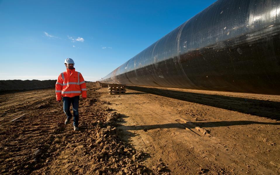 Υπάρχουν ενστάσεις για τις περιβαλλοντικές επιπτώσεις του αγωγού, ωστόσο οι μηχανικοί είναι καθησυχαστικοί. Φωτογραφίες: Αλέξανδρος Αβραμίδης