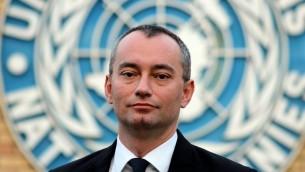 UN Special Coordinator Nikolay Mladenov, February 9, 2015 (CC BY-SA Ottokars, Wikipedia)