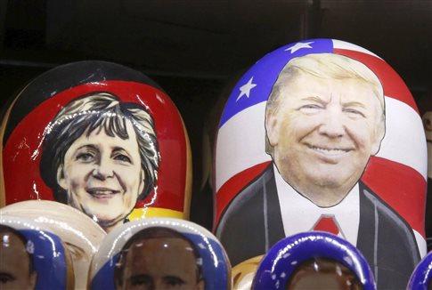Η Μέρκελ συναντά τον τρίτο πρόεδρο και ο Τραμπ την πρώτη καγκελάριο