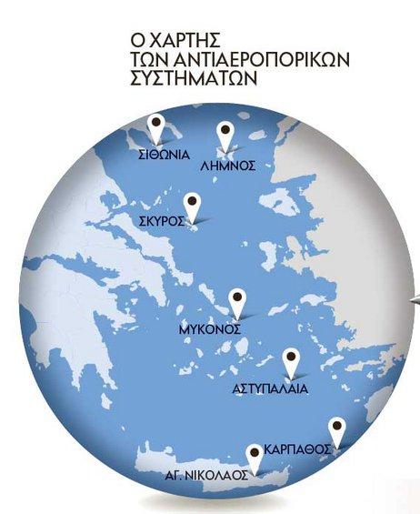 Τα αμυντικά όπλα που θα εγκατασταθούν στα νησιά του Αιγαίου θα είναι ικανά να αντιμετωπίσουν οποιαδήποτε αεροναυτική απειλή εξ Ανατολής. Στον Αγιο Νικόλαο, στη Σιθωνία και στη Σκύρο θα βρίσκονται οι S
