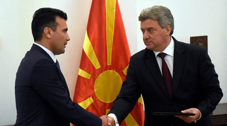 Macadonia, Macadonia government, macadonia elections, Gjorge Ivanov, Zoran Zaev, World news, Indian Express
