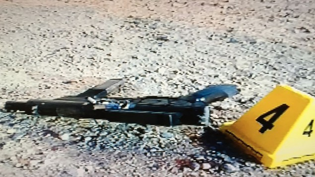 A gun used in a June 16 Palestinian terror attack near Damascus Gate in Jerusalem (Channel 2 screenshot)