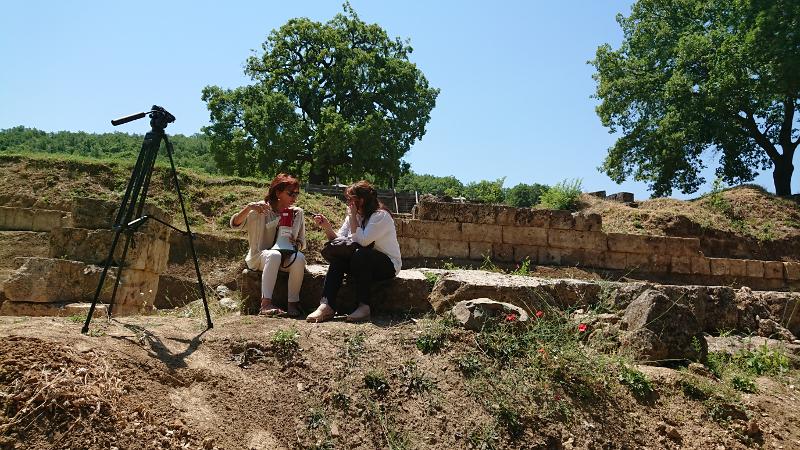 Η  προϊσταμένη της εφορίας αρχαιοτήτων Ημαθίας, αρχαιολόγος Αγγελική Κοτταρίδη