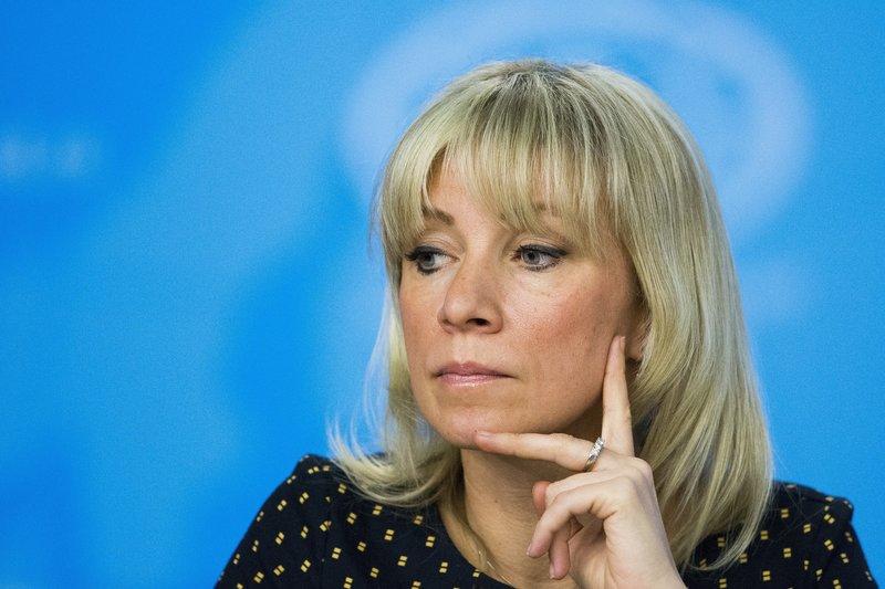 Η εκπρόσωπος του Ρωσικού ΥΠΕΞ Μαρία Ζαχάροβα -Φωτογραφία: AP Photo/Alexander Zemlianichenko