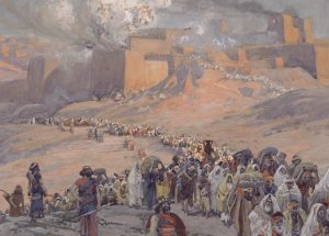 Tissot-painting-showing-deportation-and-exile-of-the-Jews-of-the-ancient-Kingdom-of-Judah-to-Babylon-and-the-destruction-of-Jerusalem-and-Solomons-Temple-image-via-Wikimedia-CC-300×215