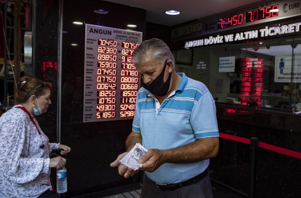 Turkish lira falls to a fresh record low