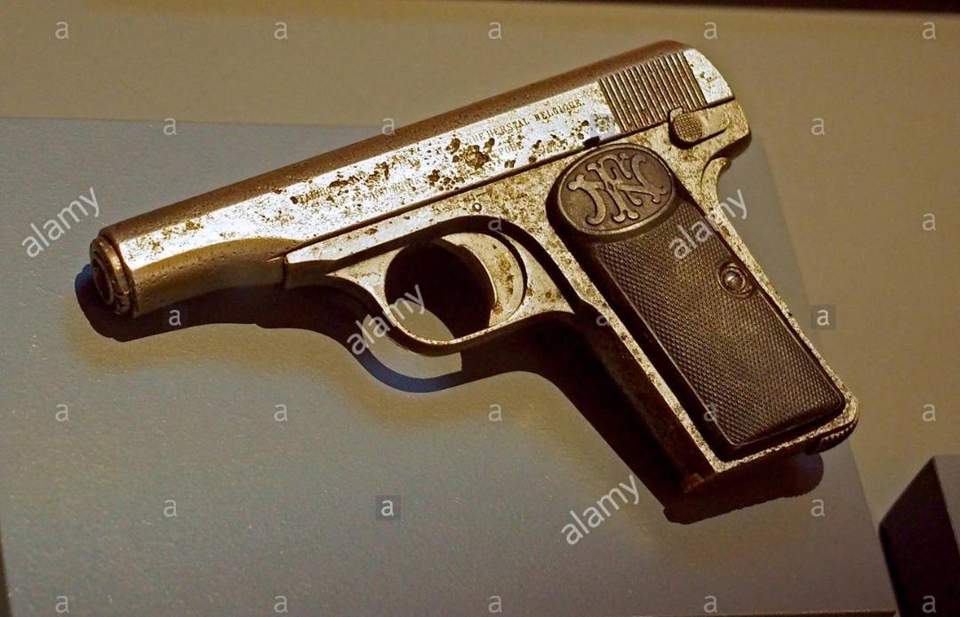 Το πιστόλι με το οποίο ο σερβοβόσνιος Γκαβρίλο Πρίντσιπ σκότωσε τον διάδοχο του Αυστροουγγρικού θρόνου Φερδινάνδο κατά την επίσκεψή του στο Σεράγεβο και αποτέλεσε την αφορμή για την κήρυξη του Α! Π.Π.